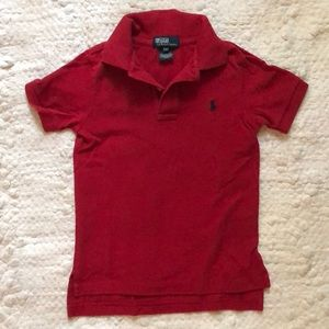 Boys Ralph Lauren short sleeve polo- red size 4T